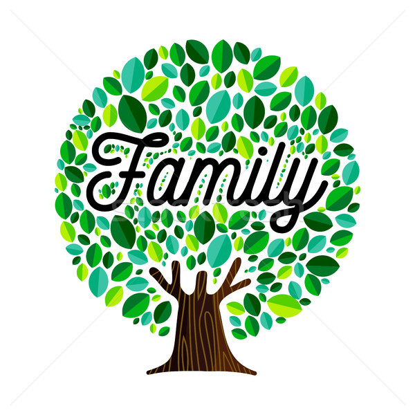 Family tree concept illustration for genealogy  Stock photo © cienpies