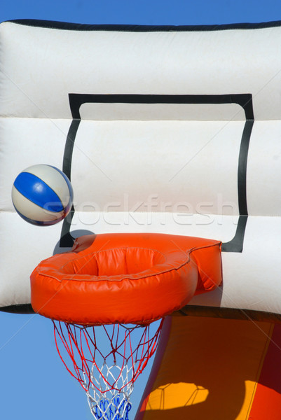 Colorful inflatable basketball toy Stock photo © cienpies
