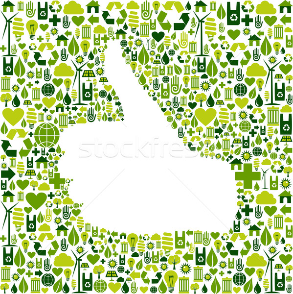 I like go green icons in hand Stock photo © cienpies