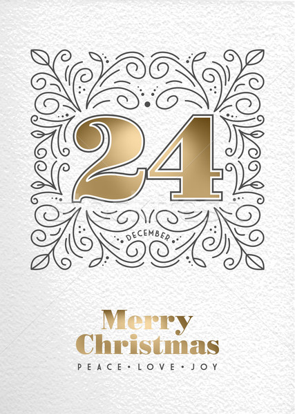 Vrolijk christmas retro vintage monogram Stockfoto © cienpies