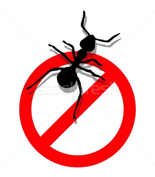 Forbidden to enter ants Stock photo © cienpies