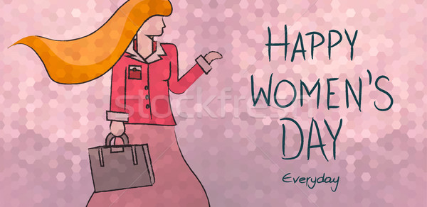 Happy womens day everyday business woman design Stock photo © cienpies