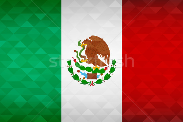 Mexico country flag of mexican nation Stock photo © cienpies