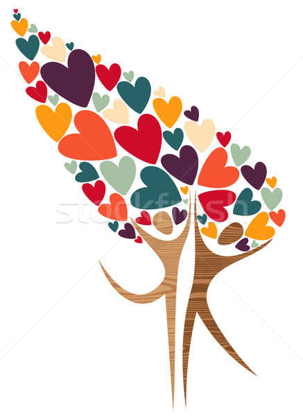 Diversity tree of love Stock photo © cienpies