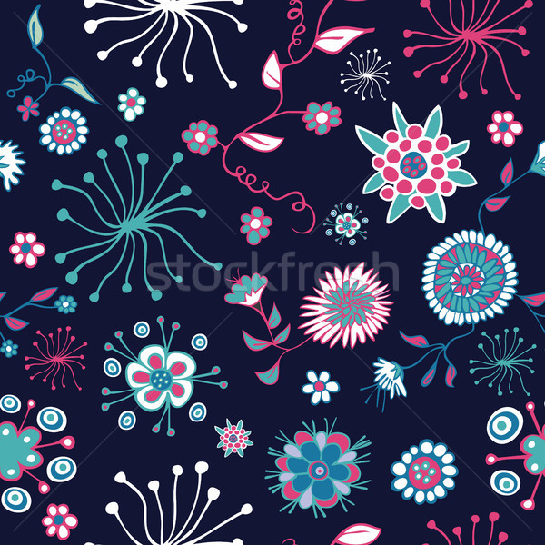 Abstract flower seamless pattern Stock photo © cienpies