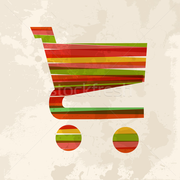 Vintage multicolor ecommerce Stock photo © cienpies