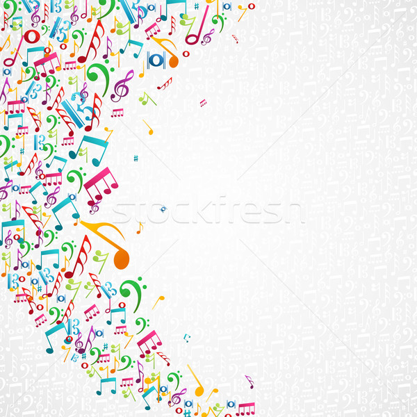 Music notes isolated design Stock photo © cienpies