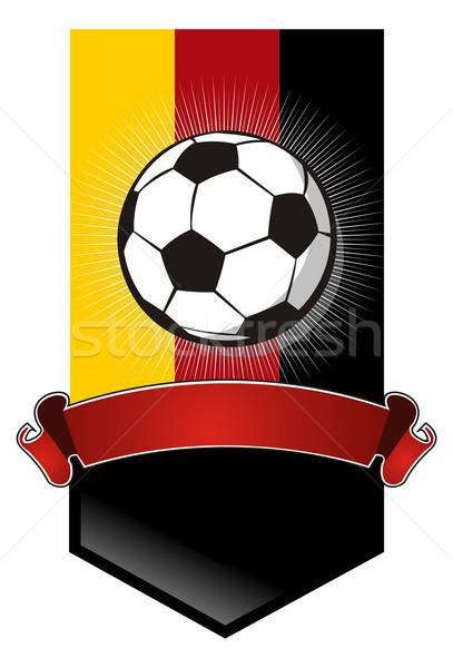 Foto stock: Alemanha · futebol · campeonato · bandeira · bandeira · futebol