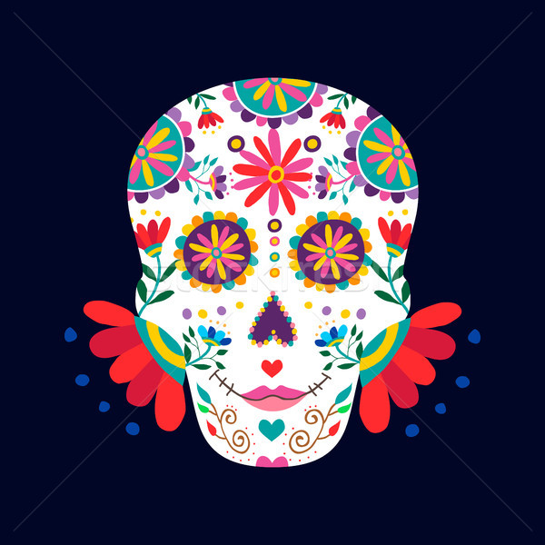 Day of the dead skull for mexican celebration Stock photo © cienpies