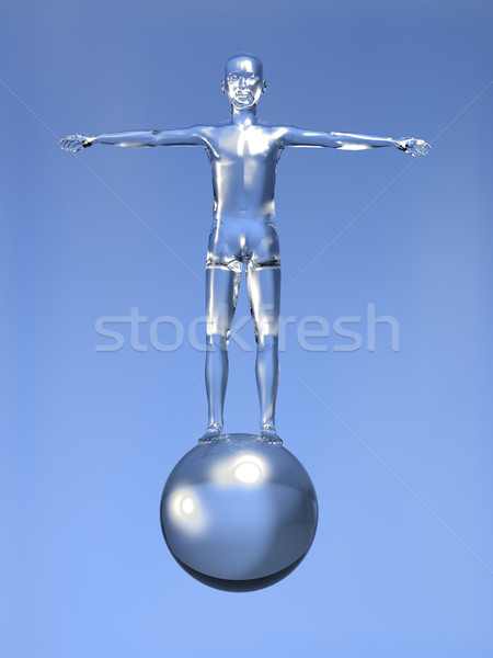 3d Man digital era concept Stock photo © cienpies