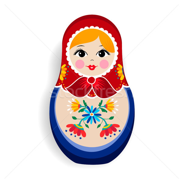 Traditional matrioska or russian doll isolated Stock photo © cienpies
