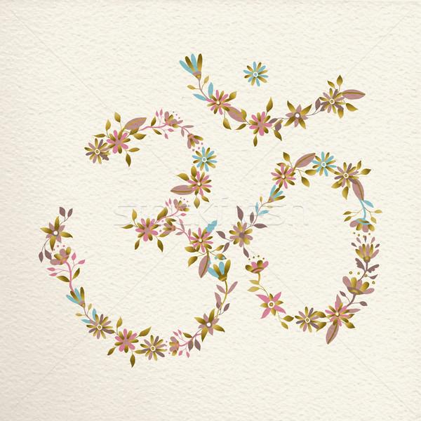 シンボル 花 ヨガ 花 装飾 精神的な ストックフォト © cienpies
