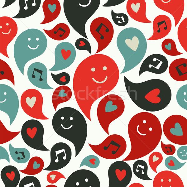 笑みを浮かべて ミュージカル 泡 パターン 幸せ スマイリー ストックフォト © cienpies