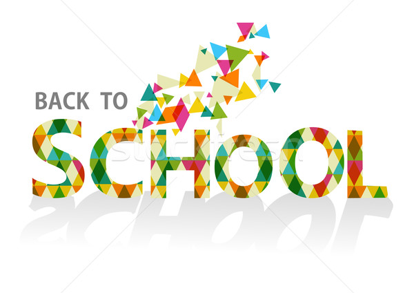 Back to school colorful triangles EPS10 background file. Stock photo © cienpies