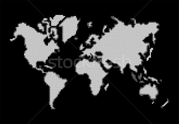 Mapie świata biały atlas eps10 wektora pliku Zdjęcia stock © cienpies
