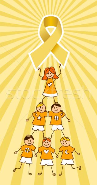 Gyermekkor rák szalag felső gyerekek fa Stock fotó © cienpies