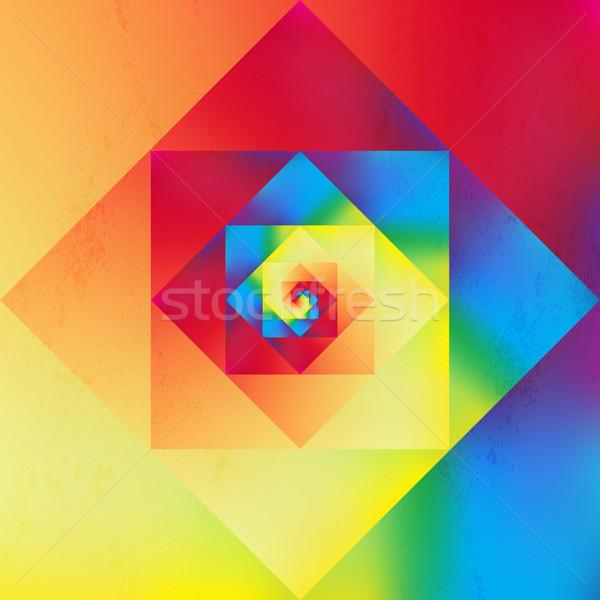 Trillend kunst geometrisch patroon kleurrijk retro Stockfoto © cienpies