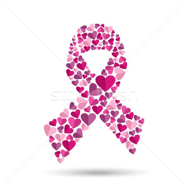 Ontwerp hart borstkanker roze Stockfoto © cienpies