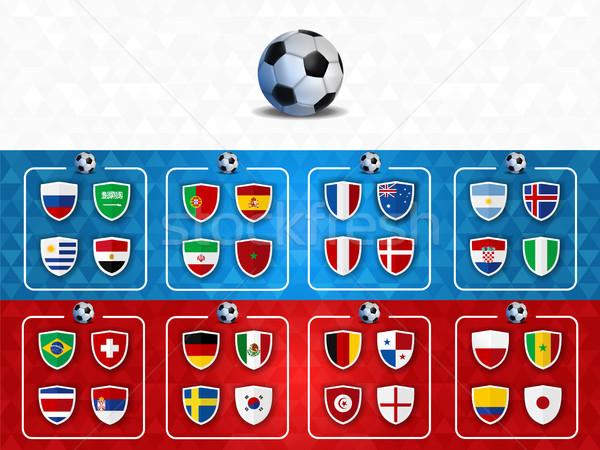 Футбол события группа список шаблон дизайна Сток-фото © cienpies