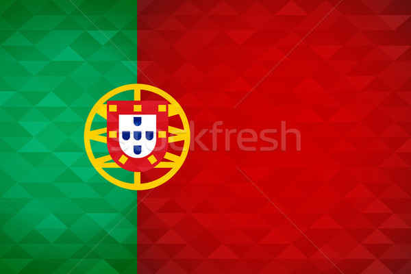 Portugal country flag of portuguese nation Stock photo © cienpies