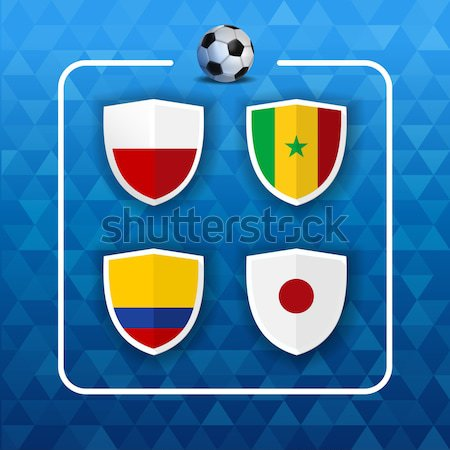 Group H russian soccer event country flag list Stock photo © cienpies