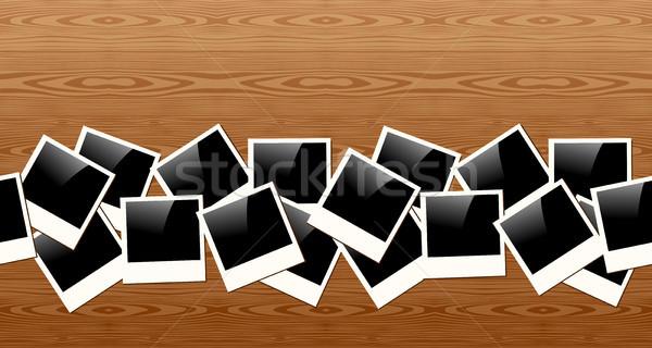 öreg Polaroid fotó minta klasszikus keret Stock fotó © cienpies