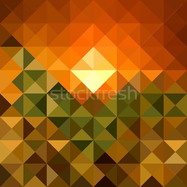 Stock fotó: őszi · idény · háromszög · végtelen · minta · eps10 · akta · absztrakt