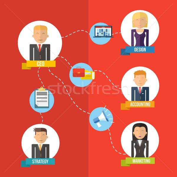を ビジネス 実例 管理 デジタル 時代 ストックフォト © cienpies