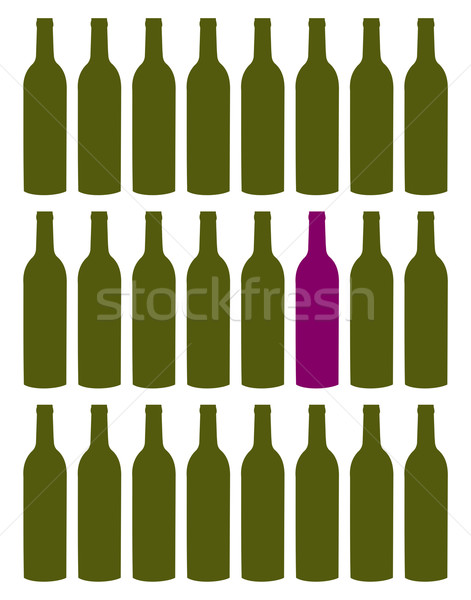 Wine bottles set Stock photo © cienpies