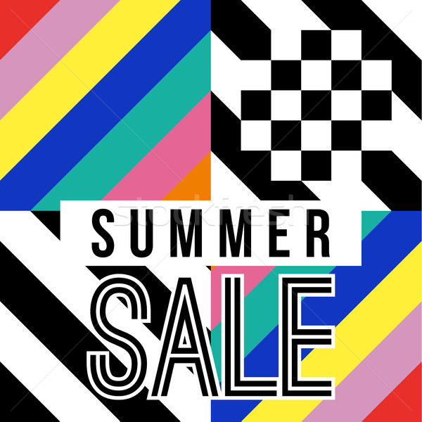 Verano temporada venta signo negocios descuento Foto stock © cienpies