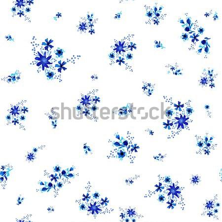 Watercolor flower pattern background art Stock photo © cienpies