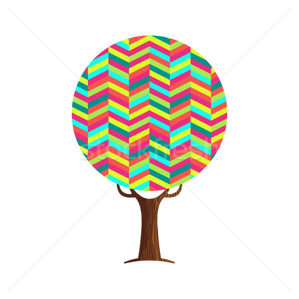 Abstract tree concept of vibrant color texture Stock photo © cienpies
