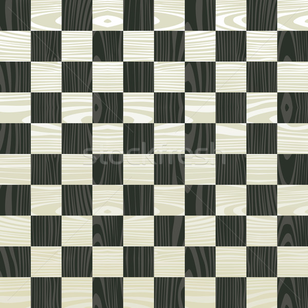 Wooden chess board pattern Stock photo © cienpies