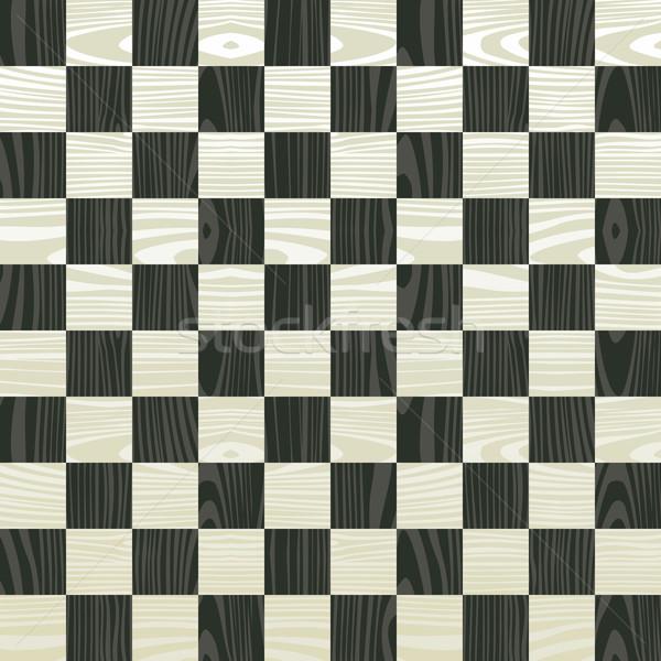 Tablero de ajedrez patrón fácil Foto stock © cienpies