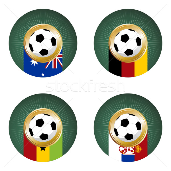 Soccer Cup team Group composition. Stock photo © cienpies