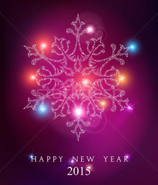 Gelukkig nieuwjaar 2015 elegante kaart wenskaart poster Stockfoto © cienpies