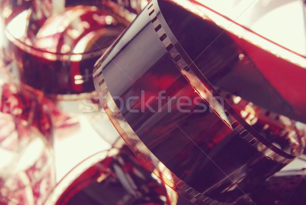 Photography film strip closeup vintage background Stock photo © cienpies