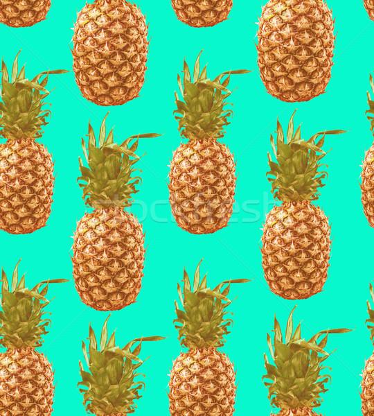 Vintage ананаса красочный лет Сток-фото © cienpies
