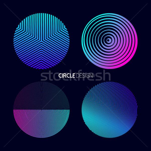 современных круга дизайна набор геометрия Сток-фото © cienpies