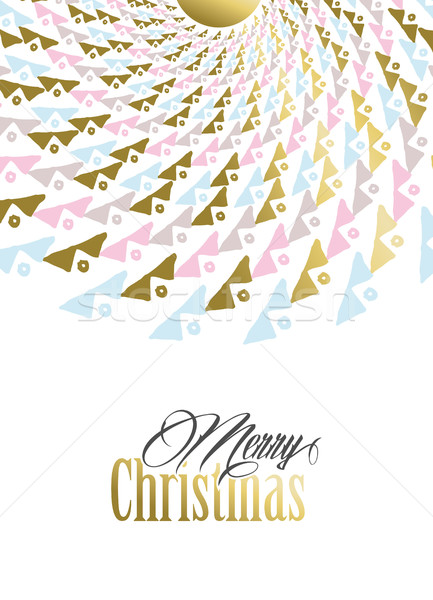 Wesoły christmas złota plemiennych mandala ilustracja Zdjęcia stock © cienpies