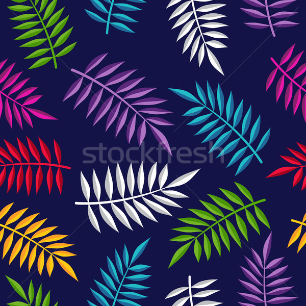 Tropical summer jungle plant color background art Stock photo © cienpies