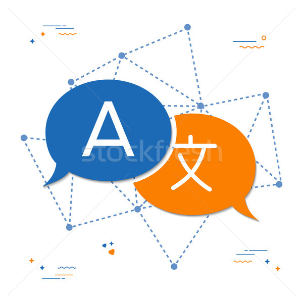 Language translation chat bubble concept Stock photo © cienpies