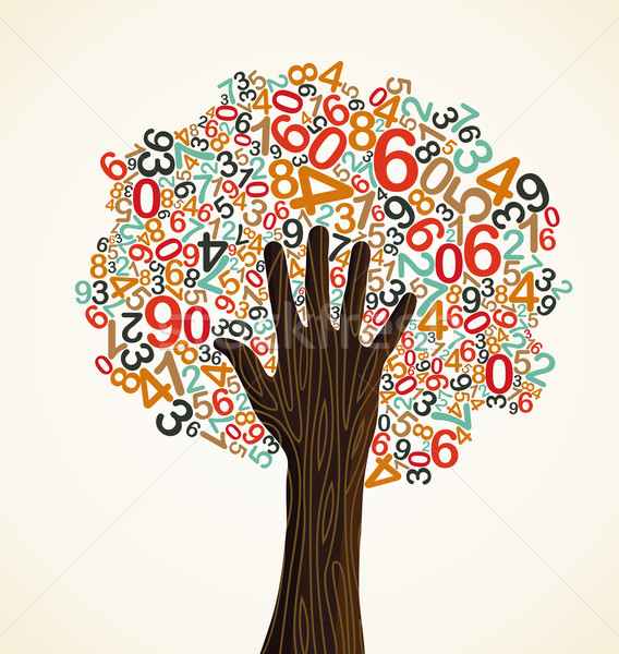 School education concept tree hand Stock photo © cienpies