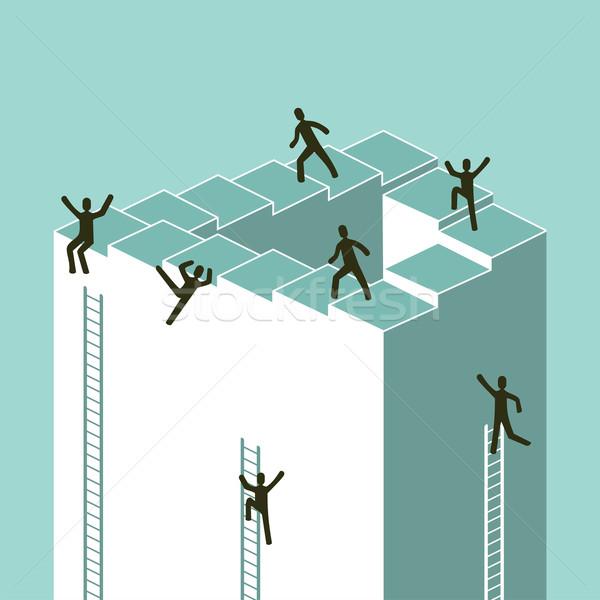 Lépcsőfeljáró üzlet siker illusztráció vektor akta Stock fotó © cienpies