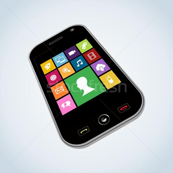 Diversity mobile application  Stock photo © cienpies