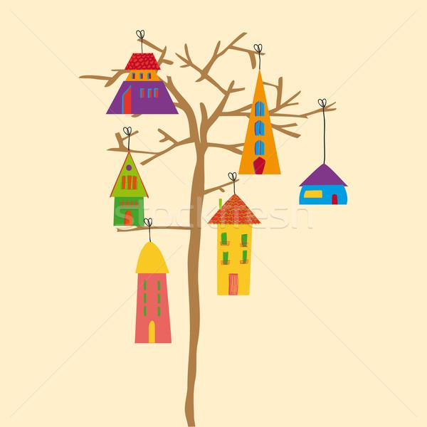 Сток-фото: дерево · мало · города · прозрачный · eps10