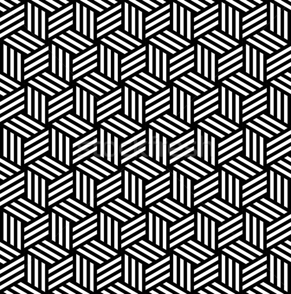 Abstract isometric 3d cube pattern background Stock photo © cienpies