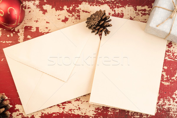 Christmas concept greeting card envelope template Stock photo © cienpies