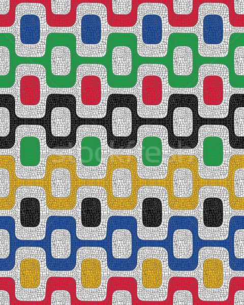 Colorido mosaico geométrico praça forma Foto stock © cienpies