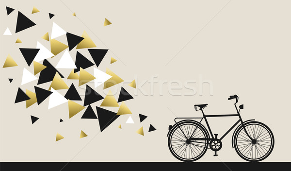 Bike concept with hipster gold geometry design Stock photo © cienpies